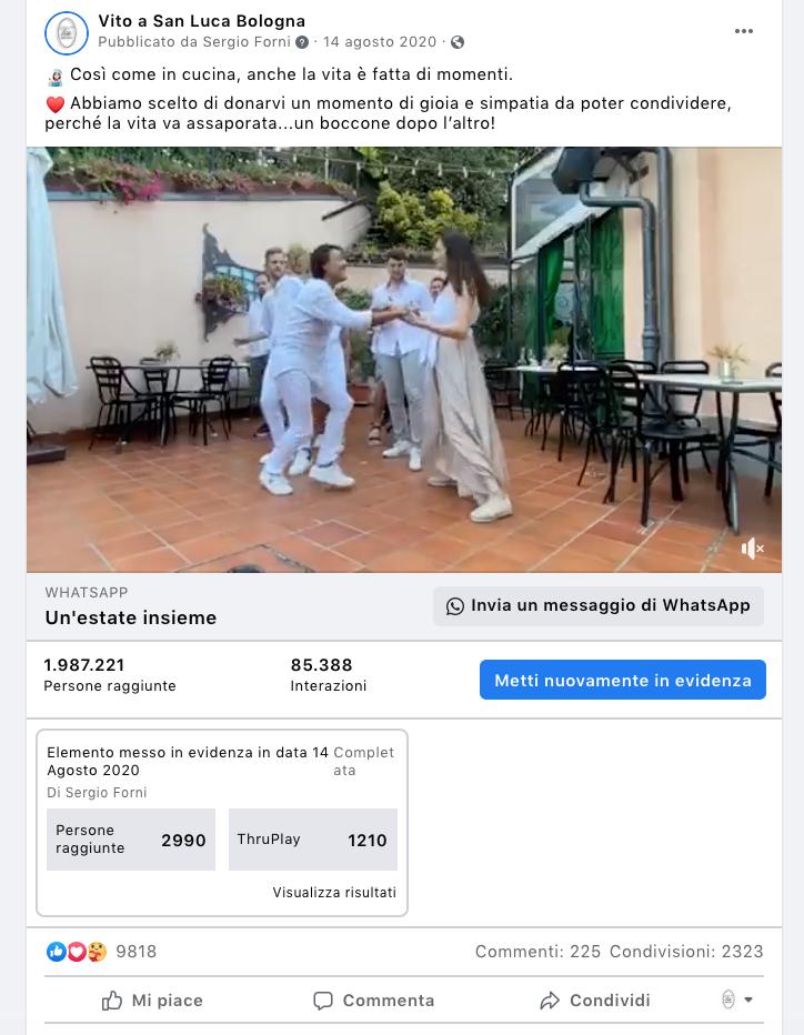 Video di promozione di Ristorante Vito a San Luca